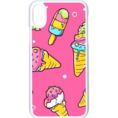 Summer Ice Creams Flavors Pattern Apple Iphone X Seamless Case (white) by allthingseveryday