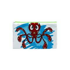 Octopus Sea Ocean Cartoon Animal Cosmetic Bag (xs)