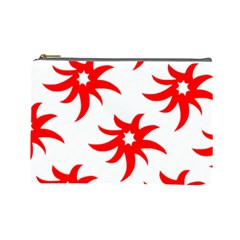 Star Figure Form Pattern Structure Cosmetic Bag (large)  by Celenk