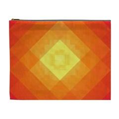 Pattern Retired Background Orange Cosmetic Bag (xl)
