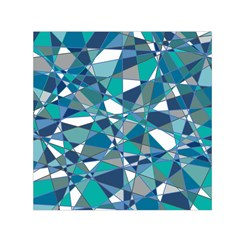 Abstract Background Blue Teal Small Satin Scarf (square)