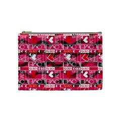 Valentine s Day Cosmetic Bag (medium) by PattyVilleDesigns
