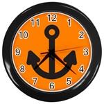 Anchor Keeper Sailing Boat Wall Clocks (Black)