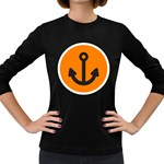 Anchor Keeper Sailing Boat Women s Long Sleeve Dark T-Shirts