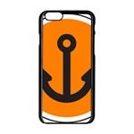 Anchor Keeper Sailing Boat Apple iPhone 6/6S Black Enamel Case