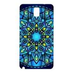 Mandala Blue Abstract Circle Samsung Galaxy Note 3 N9005 Hardshell Back Case