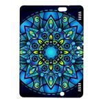 Mandala Blue Abstract Circle Kindle Fire HDX 8.9  Hardshell Case