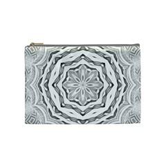 Mandala Pattern Floral Cosmetic Bag (medium)  by Celenk