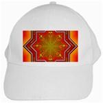 Mandala Zen Meditation Spiritual White Cap