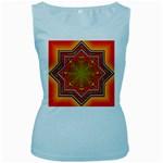 Mandala Zen Meditation Spiritual Women s Baby Blue Tank Top