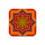Mandala Zen Meditation Spiritual Rubber Coaster (Square)