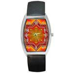 Mandala Zen Meditation Spiritual Barrel Style Metal Watch