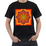 Mandala Zen Meditation Spiritual Men s T-Shirt (Black) (Two Sided)