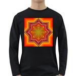 Mandala Zen Meditation Spiritual Long Sleeve Dark T-Shirts