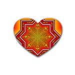 Mandala Zen Meditation Spiritual Heart Coaster (4 pack)