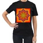 Mandala Zen Meditation Spiritual Women s T-Shirt (Black)