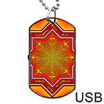 Mandala Zen Meditation Spiritual Dog Tag USB Flash (Two Sides)