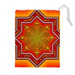 Mandala Zen Meditation Spiritual Drawstring Pouches (Extra Large)