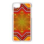 Mandala Zen Meditation Spiritual Apple iPhone 7 Seamless Case (White)