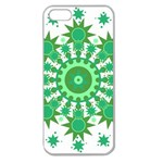 Mandala Geometric Pattern Shapes Apple Seamless iPhone 5 Case (Clear)