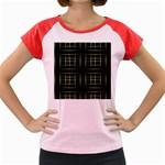 Background Texture Pattern Women s Cap Sleeve T-Shirt