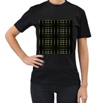 Background Texture Pattern Women s T-Shirt (Black) (Two Sided)