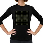 Background Texture Pattern Women s Long Sleeve Dark T-Shirts