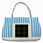 Background Texture Pattern Striped Blue Tote Bag