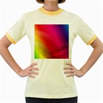 Background Wallpaper Design Texture Women s Fitted Ringer T-Shirts