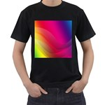 Background Wallpaper Design Texture Men s T-Shirt (Black) (Two Sided)