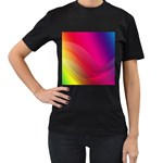 Background Wallpaper Design Texture Women s T-Shirt (Black) (Two Sided)