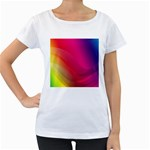 Background Wallpaper Design Texture Women s Loose-Fit T-Shirt (White)