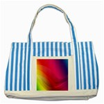 Background Wallpaper Design Texture Striped Blue Tote Bag