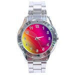 Background Wallpaper Design Texture Stainless Steel Analogue Watch