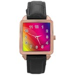 Background Wallpaper Design Texture Rose Gold Leather Watch