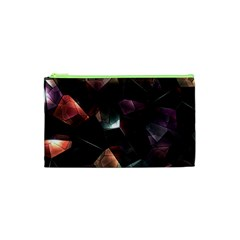 Crystals Background Design Luxury Cosmetic Bag (xs)