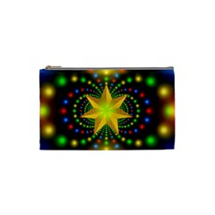 Christmas Star Fractal Symmetry Cosmetic Bag (small)