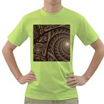 Abstract Pattern Graphics Green T-Shirt