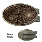 Abstract Pattern Graphics Money Clips (Oval)