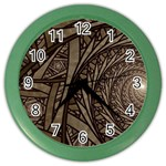 Abstract Pattern Graphics Color Wall Clocks
