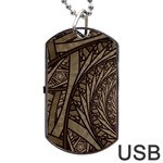 Abstract Pattern Graphics Dog Tag USB Flash (Two Sides)