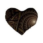 Abstract Pattern Graphics Standard 16  Premium Flano Heart Shape Cushions