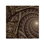 Abstract Pattern Graphics Small Satin Scarf (Square)