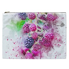 Blackberry Fruit Art Abstract Cosmetic Bag (xxl)