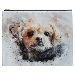 Dog Animal Pet Art Abstract Cosmetic Bag (xxxl)  by Celenk