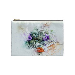 Flowers Bouquet Art Abstract Cosmetic Bag (medium)
