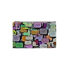 Background Painted Squares Art Cosmetic Bag (small)