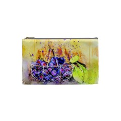 Fruit Plums Art Abstract Nature Cosmetic Bag (small)