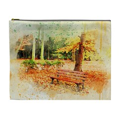 Tree Park Bench Art Abstract Cosmetic Bag (xl)