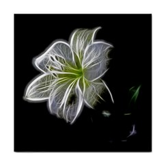 White Lily Flower Nature Beauty Face Towel by Celenk